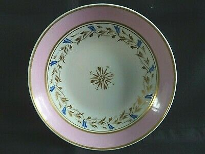 Georgian Derby Hand Painted & Gilded Saucer 1806 - 1825 (2)