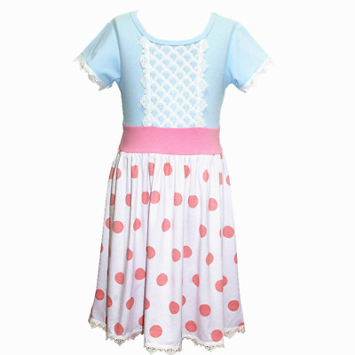 Girls Kids Baby Summer Party Cartoon Sleeveless Fit & Flare Dresses Ages 1-10 Yr
