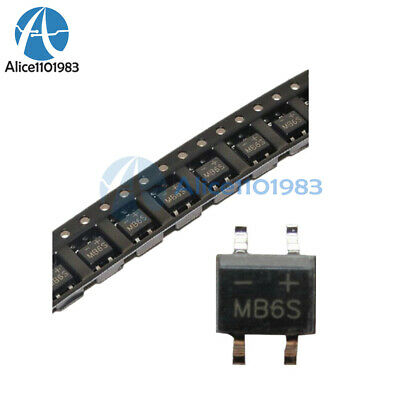 15Pcs IC MB6S 0.5A 600V Miniature Mini SMD Bridge Rectifier MB6S