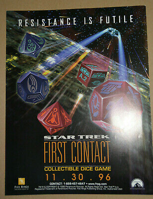Star Trek TNG; Collectible Dice Game First Contact Enterprise Starter Sealed