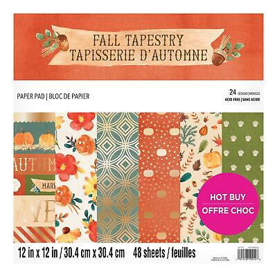Craft Smith Design-Papierblock 30,4 x 30,4cm (48 Blatt) - Fall Tapestry