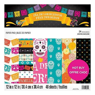 Craft Smith Design-Papierblock 30,4 x 30,4cm (48 Blatt) - Day of the Dead
