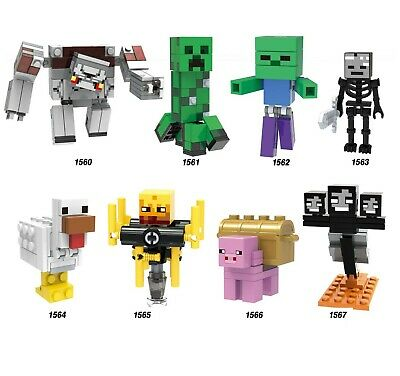LEGO MINECRAFT MINIFIGURES YOU CHOOSE FROM LIST PICK MINIFIG SKELETON ZOMBIE ETC