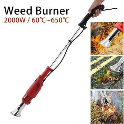 Garden Gear 2000W Electric Weed Burner Killer Thermal Hot Air Blaster Torch 600°