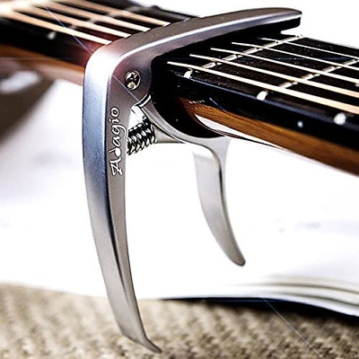Adagio PRO DELUXE CAPO Suitable For Acoustic & Electric Guitars With Quick And -
