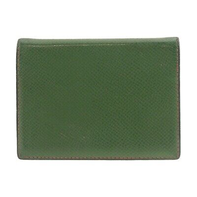 Auth HERMES Agenda PM Day Planner Cover Green Leather Z in Circle (1996) #f10360