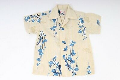 Vintage 50s 60s Cotton Hawaiian Shirt Youth Boys Kids USA