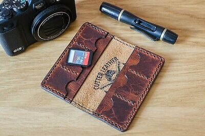 SD Card Wallet, handcrafted Italian Carlo leather