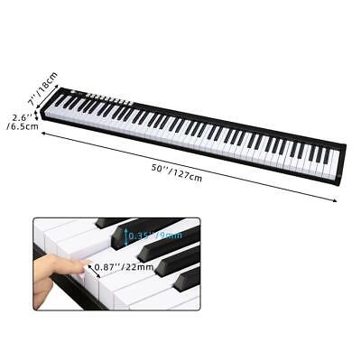 Black 88 Key Digital Piano MIDI Keyboard w/ Pedal and Bag Music Instrument Home