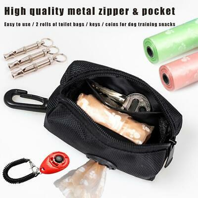 Pet Dispenser Waste Dog Poo Puppy Pick-Up Bags Travel Pouch Poop Holder W9M0