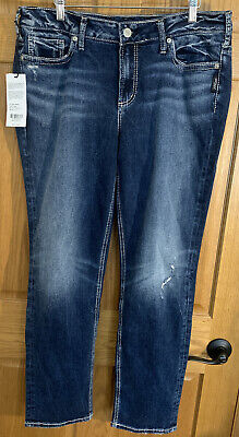 Elyse mid Rise straight darkwash Curvy Size 18x30 NEW $109 Silver Jeans Co