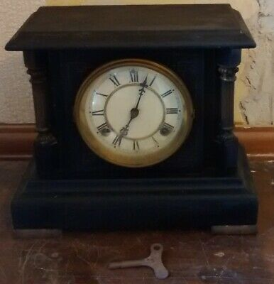 antique American   MANTLE CLOCK   working..with key......known history