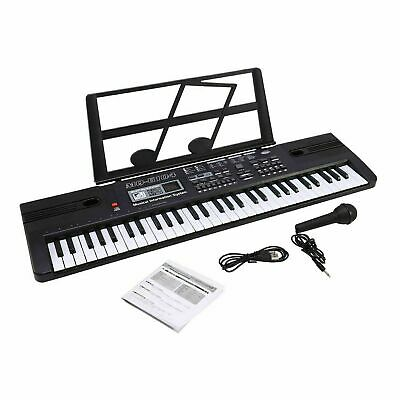 61 Key Musical Keyboard Electronic Digital Piano Adults Beginner With Microphone