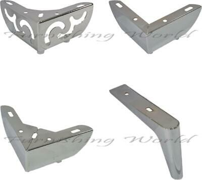 4 x quality Metal LEGS // FEET for uk FURNITURE sofas stools table bed,drawers