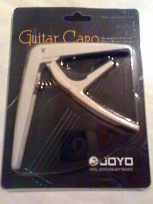 JOYO Quick Change Electric & Acoustic Guitar Capo In Grey With 6 Free Plectrums!