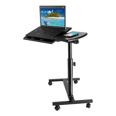 Wheel Movable Laptop Computer Stand Table Over Bed Sofa Tray Desk Mobility Aid