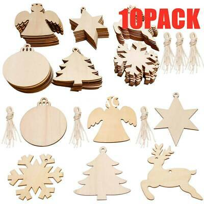 50mm 20x Wooden MDF Christmas baubles 5cm Craft shapes blanks decoration diy