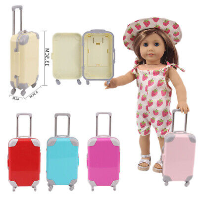 Baby Doll Travel Suitcase Fashion Plastic For Girls Kids Doll Accessories Case