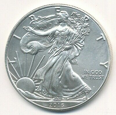 2016 American Silver Eagle 1 Oz .999 Fine Exact Coin Shown
