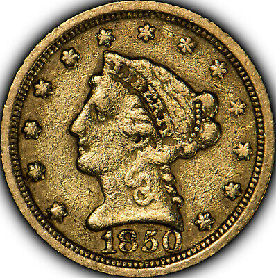 1850-O $2.5 Gold Liberty Head Quarter Eagle - Better Early US Gold - SKU-X479