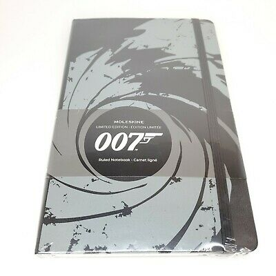 Moleskine Limited Edition Notebook 007 James Bond Large Ruled Black Sealed Agent