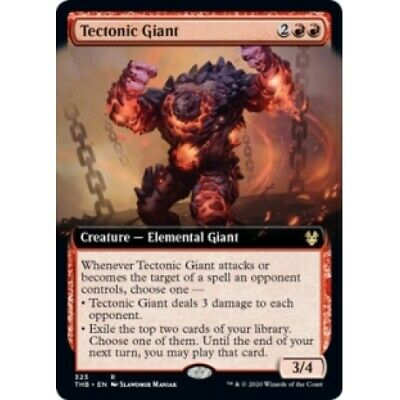 x4 MTG Theros Beyond Death Death Tectonic Giant Extended Art