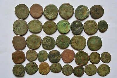 Lot 35 Byzantine bronze Follis & Anonymous  for cleaning
