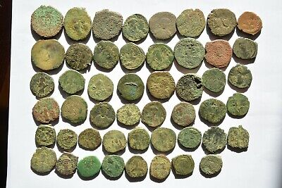 Lot 49 Byzantine bronze Follis for cleaning 500-700 AD.  03