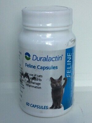 Duralactin Feline 200mg - 60 Capsules - For Inflammation In Cats & Kittens