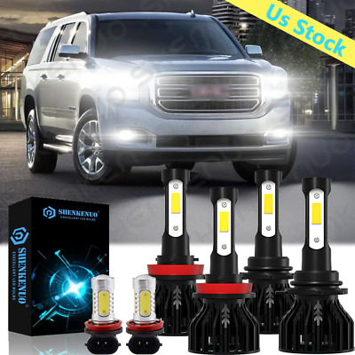 For GMC Terrain 2010-2015 LED Headlight Bulb Fog Light 9005 H11 Combo Bulbs 6x