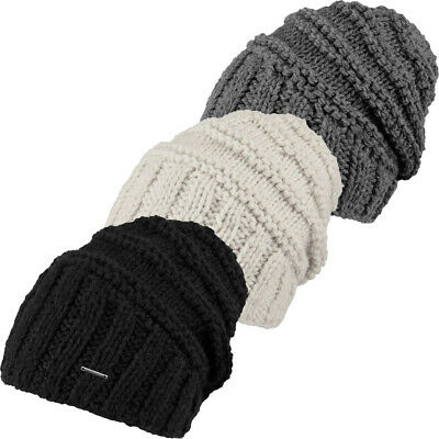 Barts Womens//Ladies Tamara Cable Knit Casual Fleece Lined Beanie Hat