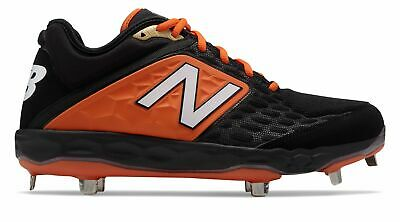 New Balance Low-Cut 3000v4 Metal Baseball Cleat Mens Shoes Black with Orange