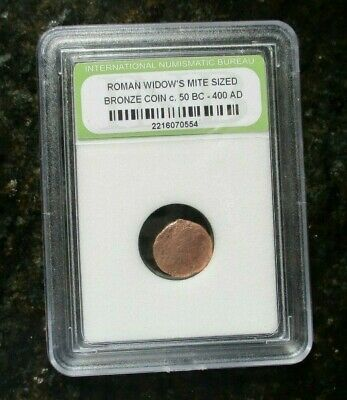 Ancient Roman Widows Mite Sized Bronze Coin C.50 Bc-400 Ad-Free Shipping