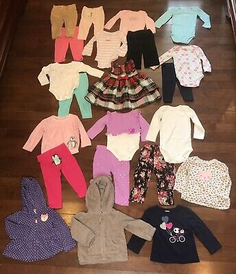 Girls 18 Months Clothes Outfits Lot Of 22 Items 18 Mo Infant Toddler