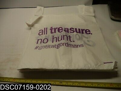 QTY=1 Box X 500 Gordmans Large White T-Shirt Plastic Bags