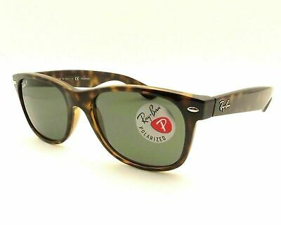 AUTHENTIC Ray Ban New Wayfarer RB2132 902/58 Tortoise Polarized Sunglasses 55mm