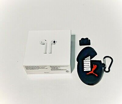 Apple AirPods 2nd GEN w/Wireless Charging Case-MRXJ2AM/A +Luxury Protection Case