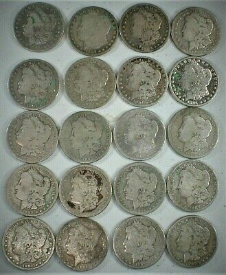 Roll of (20 Coins) Pre 1921 Cull Morgan Silver Dollars as shown in Pictures #473