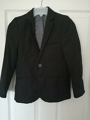 Boys Marks and Spencer Autograph Black Suit Jacket Age 8 Years