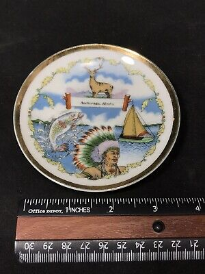 Anchorage Alaska Souvenir Plate 1960