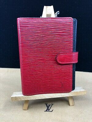 LV909 LOUIS VUITTON Red Epi Leather PM Agenda Cover Planner Make an offer!
