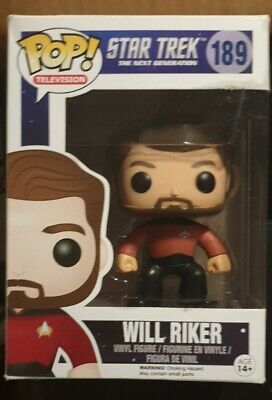 Star Trek Next Generation Will Riker Pop Vinyl Funko 189 boxed