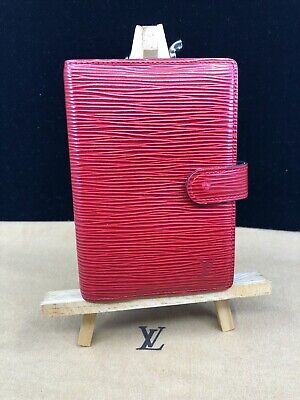 LV918 LOUIS VUITTON Red Epi Leather PM Agenda Cover Planner Make offer!