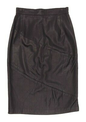 Vintage NEIMAN MARCUS Leather Skirt M Medium Womens 8 High Waist Straight Skirt