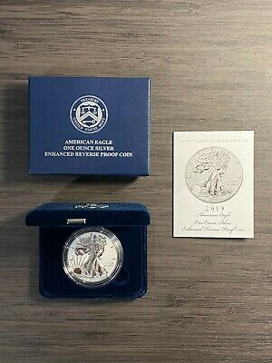 2019-S American Eagle One Ounce Silver Enhanced Reverse Proof Coin *OPENED*
