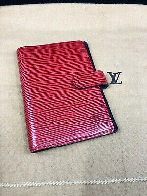 LV914 LOUIS VUITTON Red Epi Leather PM Agenda Cover Planner Make offer!