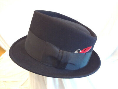 Fabulous Vintage Royal Stetson Black Wool Felt Fedora