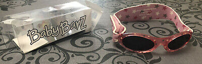 Baby Banz Girls Sunglasses Pink Stars 0-2 Years Excellent Condition