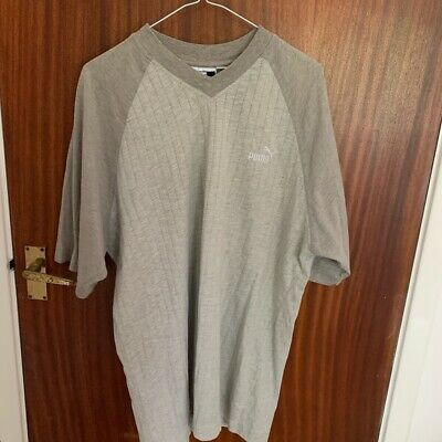 Vintage Puma Grey Tshirt Size Medium