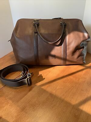 Mens Fossil Brown Leather Mayfair Duffle Bag
